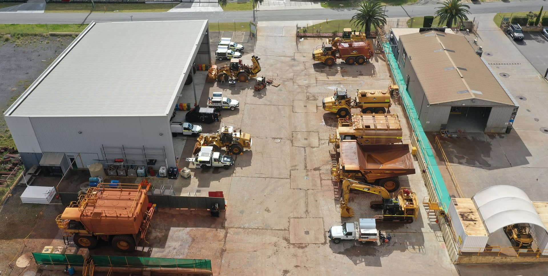 Drone View of Naval Base Maintenance Facility