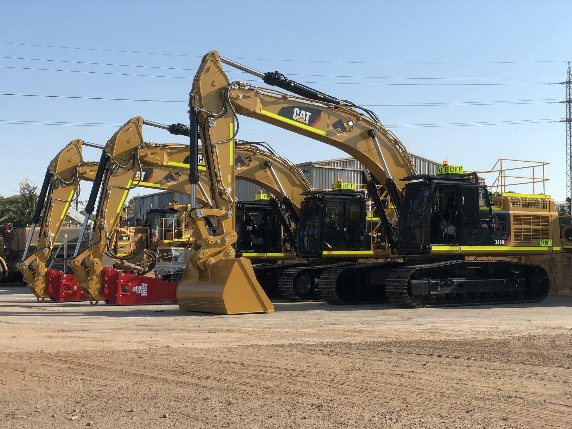 Caterpillar 349D Excavators - For Hire