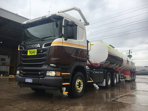 Scania Semi & Tanker Water Truck - For Hire